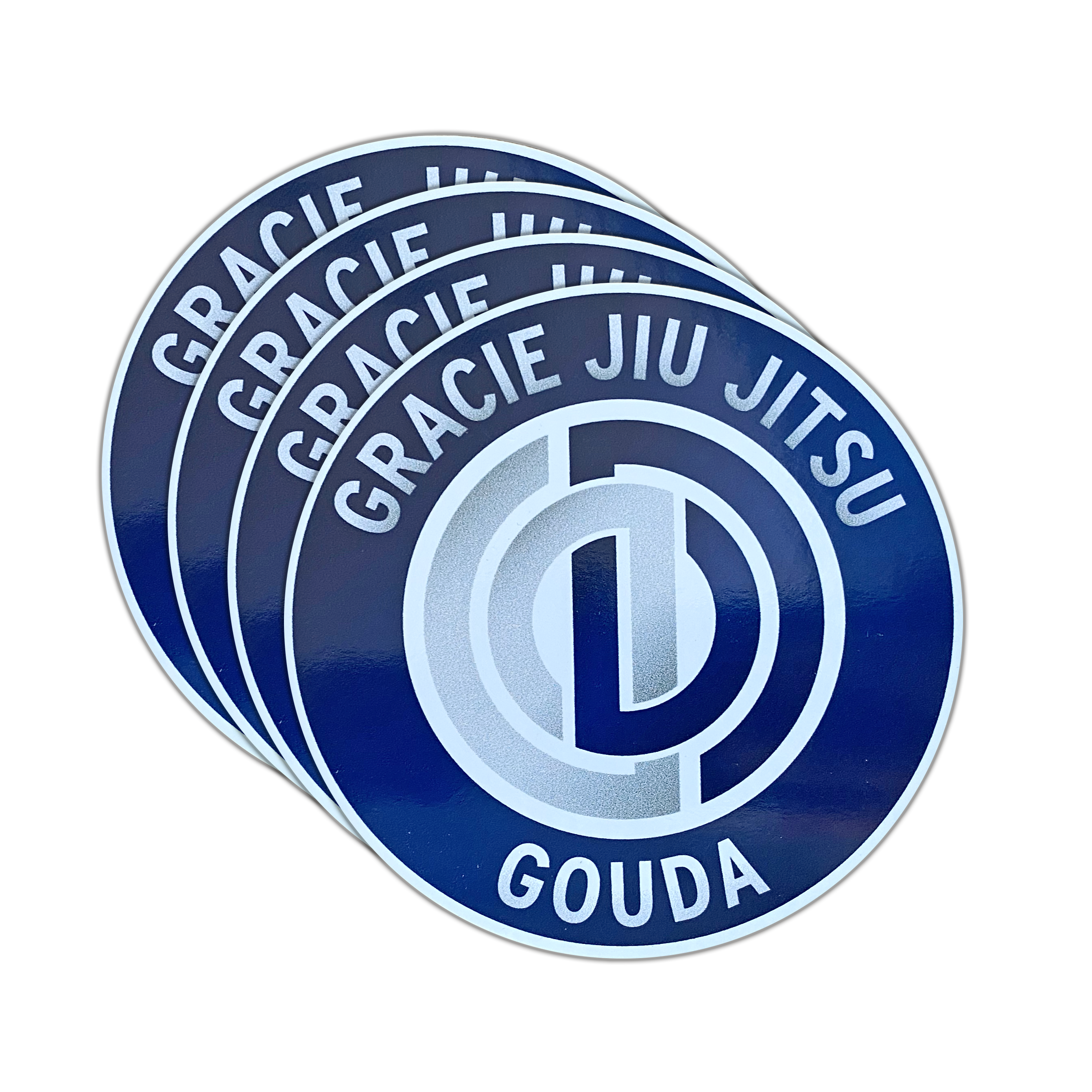 "4x Sticker  ""Gracie Jiu Jitsu Gouda"" 