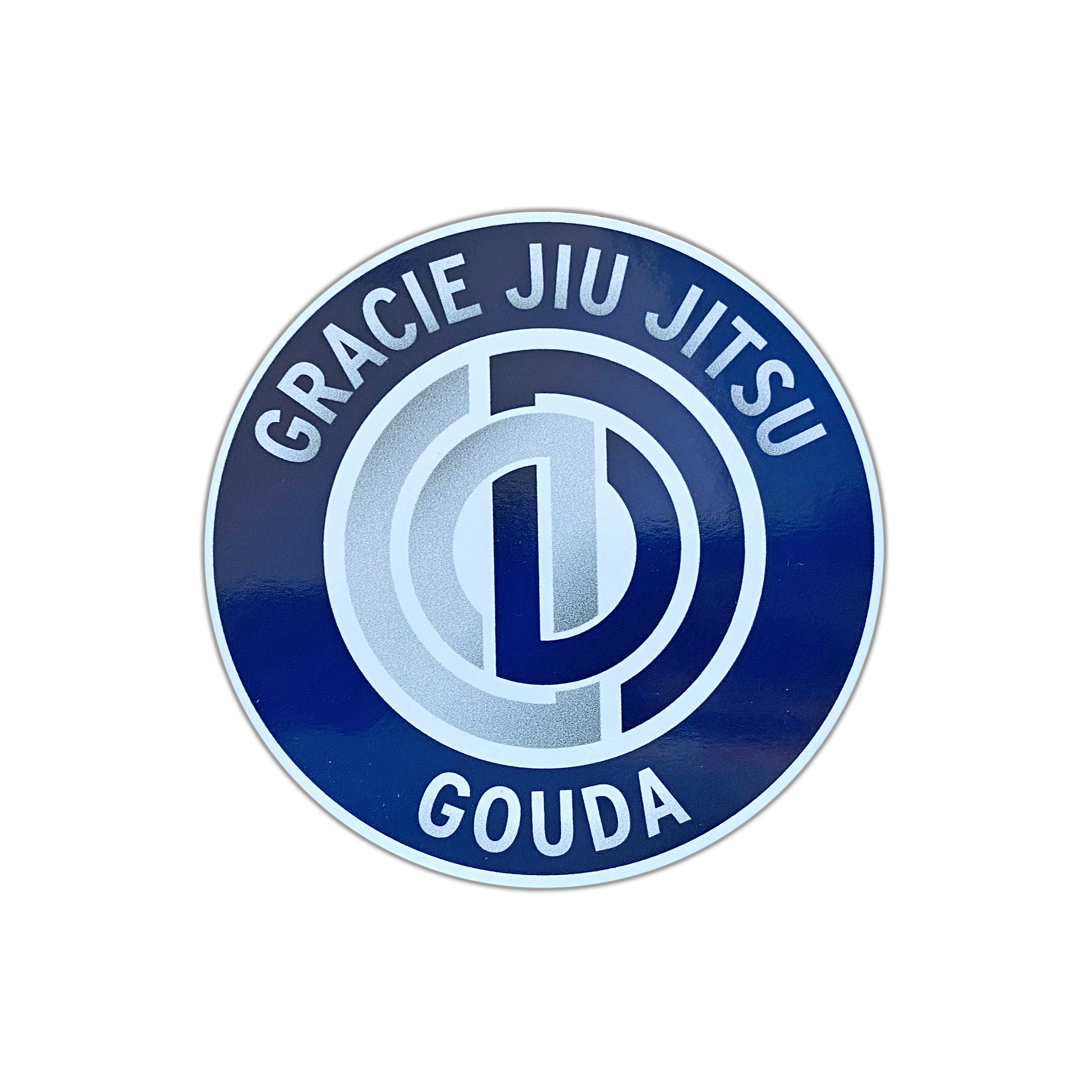 "Sticker  ""Gracie Jiu Jitsu Gouda"" 